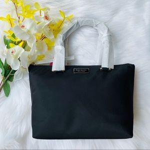 INSULATED TOTE KATE SPADE NYLON MINI BLACK DAWN